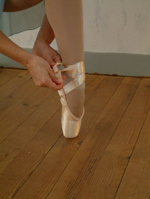Tying Pointe Shoes